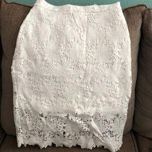 Lulu's white lace skirt